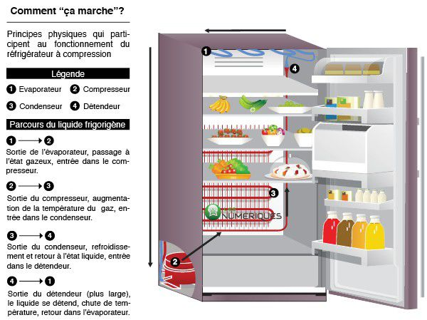 temperature frigo congelateur