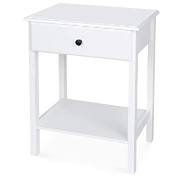 table de chevet blanche