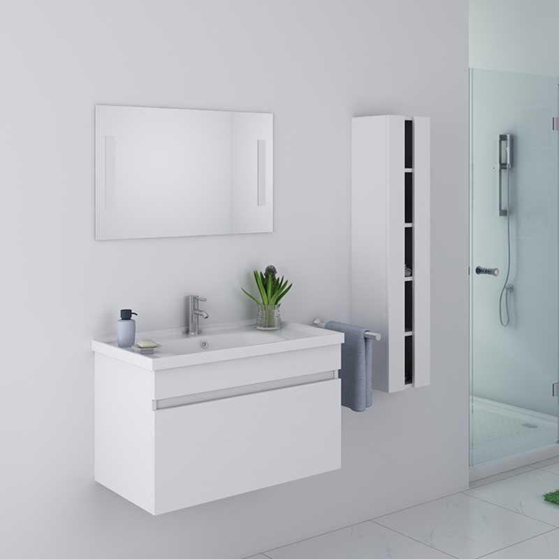 meuble salle de bain blanc