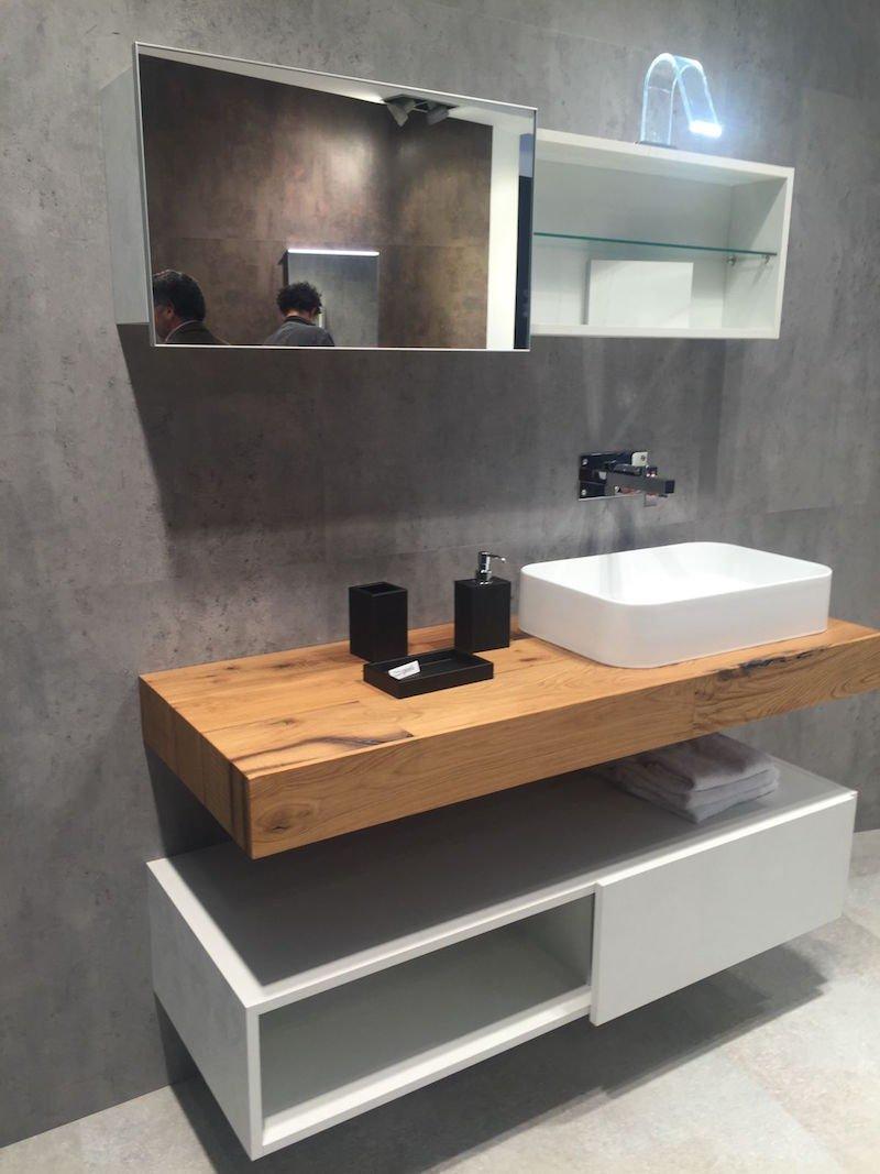 plan de travail salle de bain bois