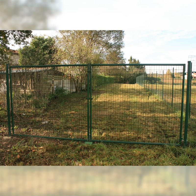 vidaXL Portillon 106x150 cm Acier Vert Portail porte de ...