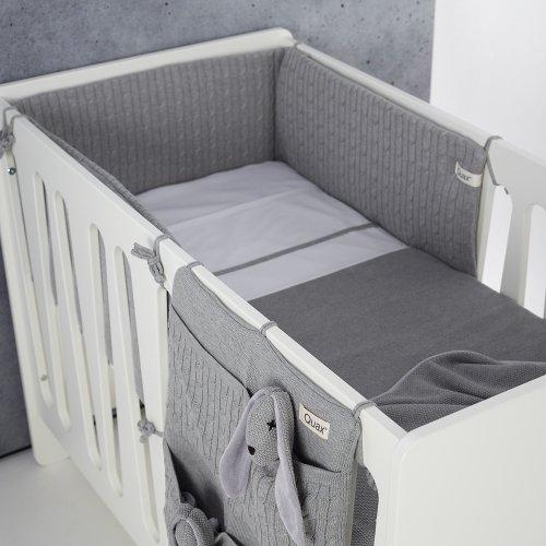 tour de lit gris